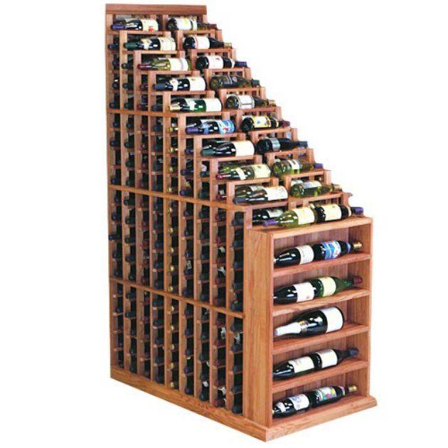 Under the stairs Designer Series 270-Bottle 9-Column Waterfall Wine Rack