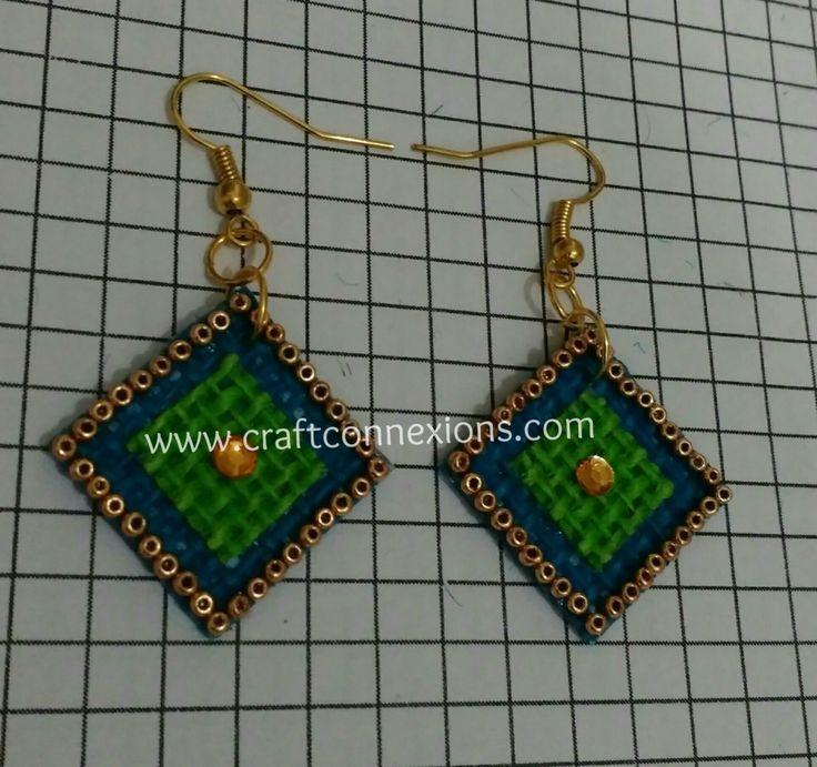 Handmade Jewellery making Tutorial – Jute Earrings....