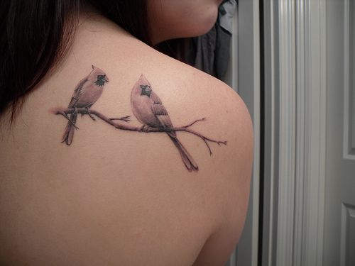 cardinal tattoo with magnolia | emgeeee's favorite photos and videos | Flickr