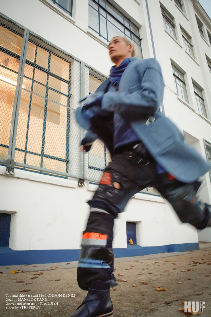 Swedish men's footwear label Stig Percy featured in HUF magazine