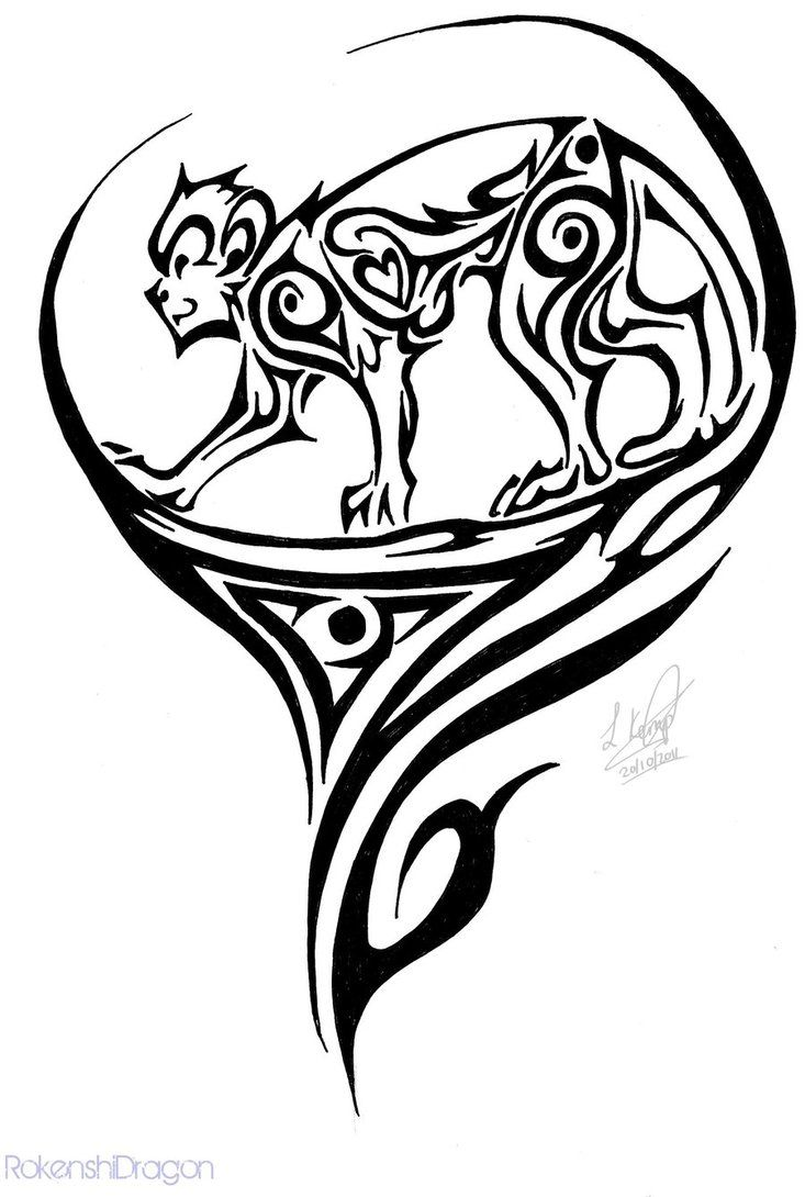 Tribal Monkey Tattoo | Tribal Monkey by RokenshiDragon on DeviantArt