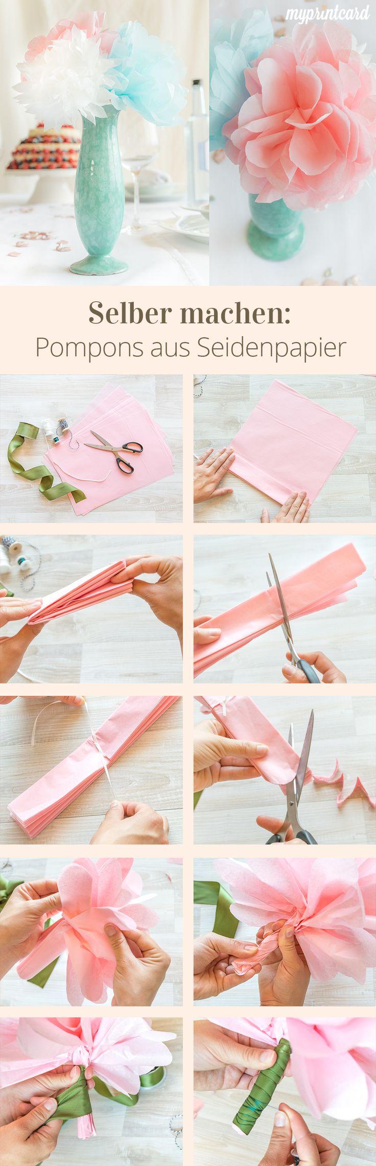 DIY: pompons maken voor het droomhuwelijk  – Hochzeit: Basteln, Selbermachen & DIY