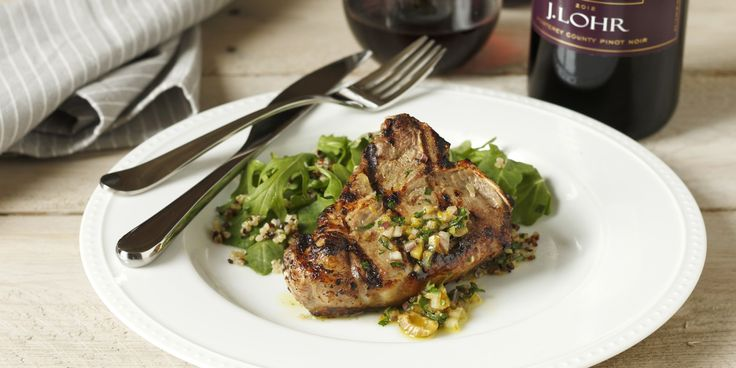 Grilled Lamb Loin Chops with Orange & Olive Recipe