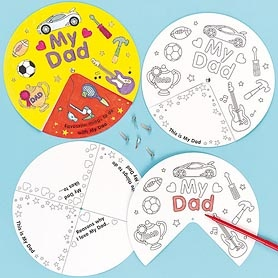 Show Dad how much he means to you! Pre-printed wheel to colour with fibre pens and then assemble. Makes the perfect Father's Day gift.