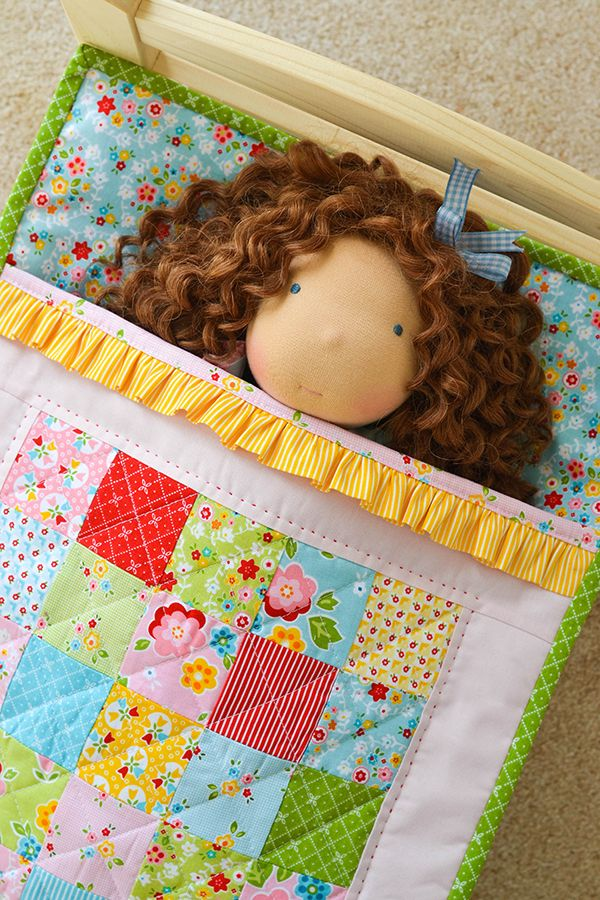 adorable - - - Ruffle Doll Quilt in 'Bloom & Bliss'