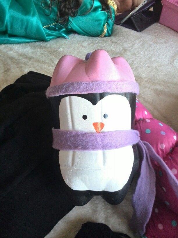Dulcero pingüino con material reciclado...