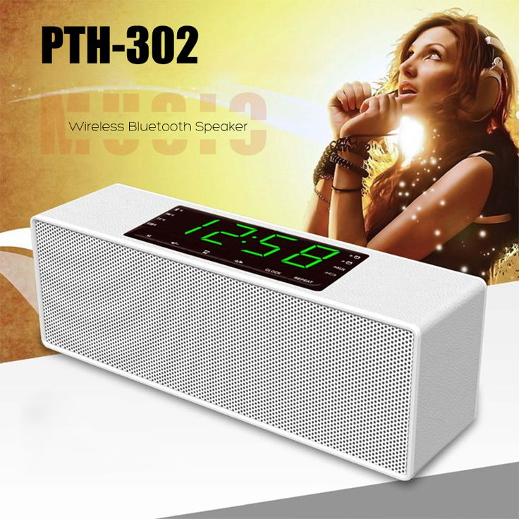 Wireless Bluetooth Speaker Stereo Hands-free For MP3/TF/AUX/USB/FM/Clock.