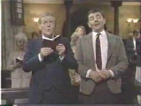 Mr. Bean sings  (or tries to sing) Halleluja