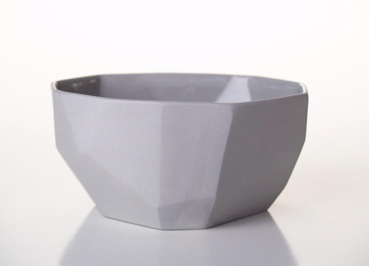 Grey Facet Bowl from GDG Studios