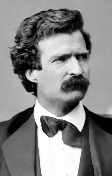 Mark Twain in February of 1871. Twain served in a Confederate militia, the Marion Rangers, but only lasted two weeks before he quit.