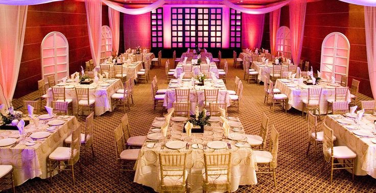 Ballroom wedding dinner and reception at Sun Palace in Cancun, Mexico | Palace Resorts Weddings ®