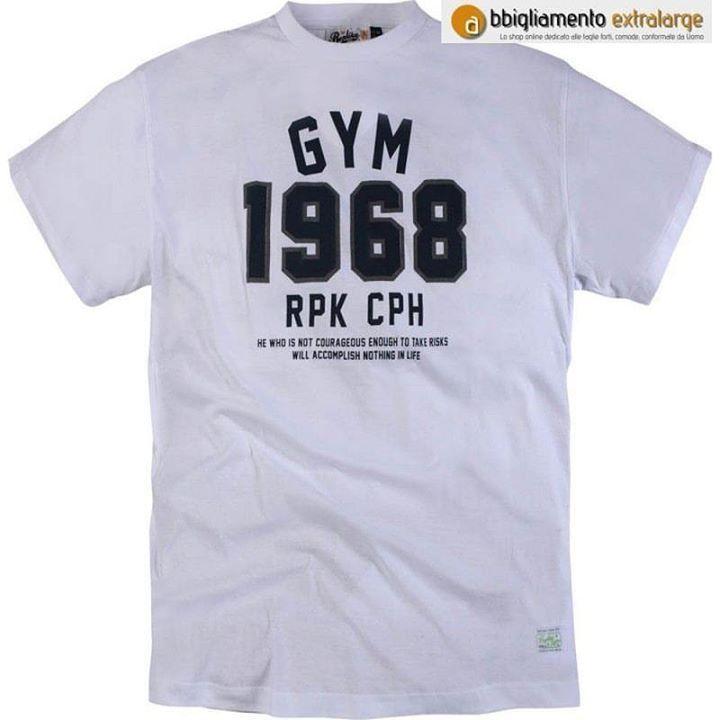 #tshirt  #replikajeans #allsize #Blanco ideale per la #ginnastica ed il #jogging all'aria alerts! In saldo a 1691 su abbigliamento #extralarge La tua #modauomo