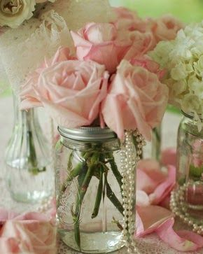 Pearls! Add peonies in place of roses