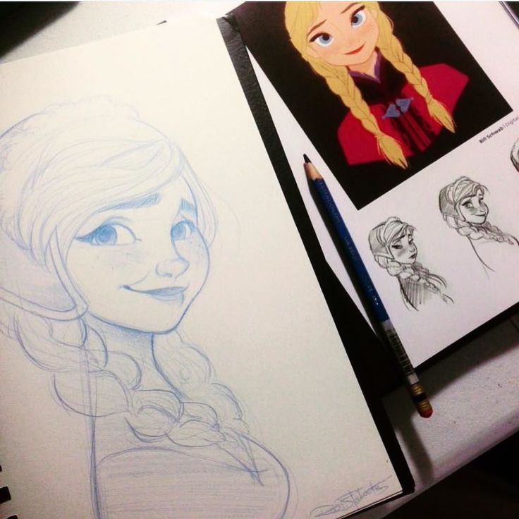 Here is another master study! This time I am working on studies of Anna from The Art of Frozen book! Can you believe I picked this book up used for only $4! It has a lot of great sketches and costume design to study from!! #sketching #sketch #drawings #studies #frozen #anna #disney #pencils #masterstudy