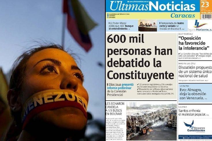 """¡QUÉ VERGÜENZA! La bochornosa portada de Últimas Noticias este 23May (""""todo está bien"""" en Venezuela) - http://wp.me/p7GFvM-HBu"""