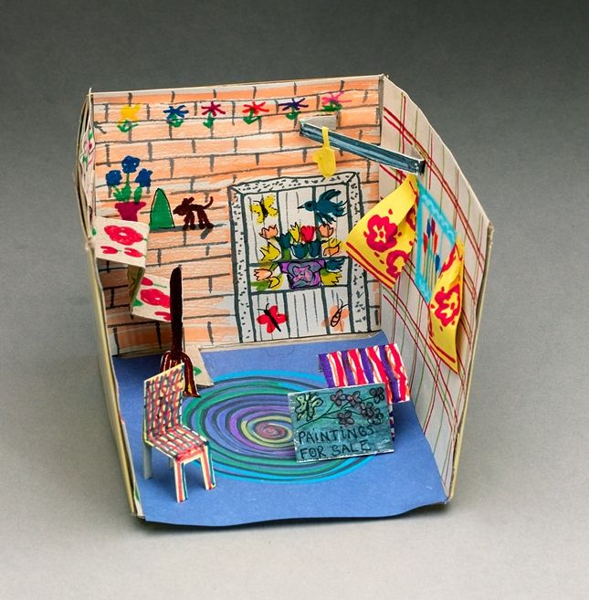 All Over the House: Maud Lewis-inspired diorama
