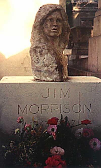 Jim Morrison, 1943-1971. Cimetière du Père Lachaise, Paris, France