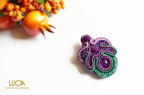 Check out this item in my Etsy shop https://www.etsy.com/listing/514079983/purple-soutache-tulip-brooch