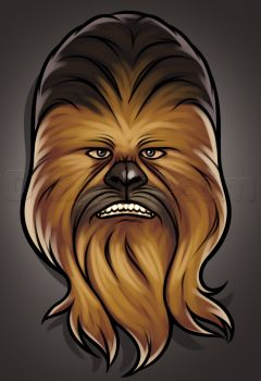 how to draw chewbacca easy star wars how to draw