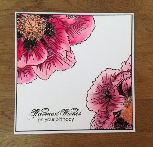 Zoeblingcards: Indigoblu Giant Poppy