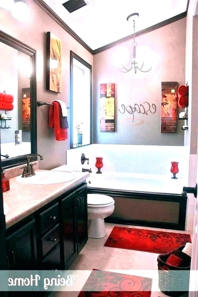 Bathroom Decorating Ideas Black White And Red Modern Home Interior Design In 2020 Bathroom Red Red Bathroom Decor Bathroom Decor