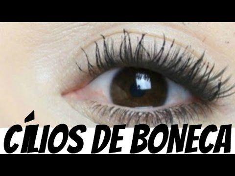 CÍLIOS de BONECA: VOLUMOSOS e GRANDES Com Apenas MÁSCARAS/RÍMEL ou FIBRA...