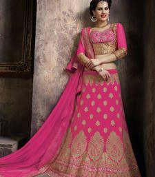 Buy Fuchsia silk mirror work bridal-lehengas bridal-lehenga online