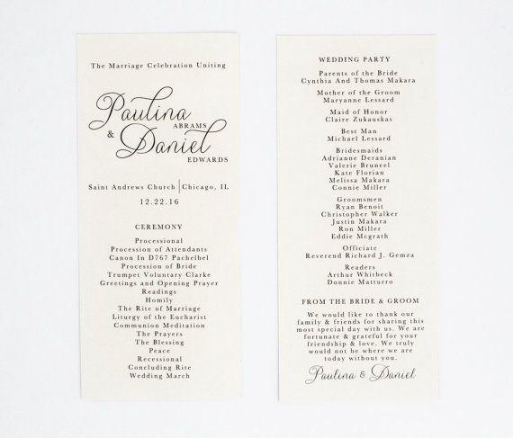 Hochzeit-Programme Routen  moderne elegante klassische und
