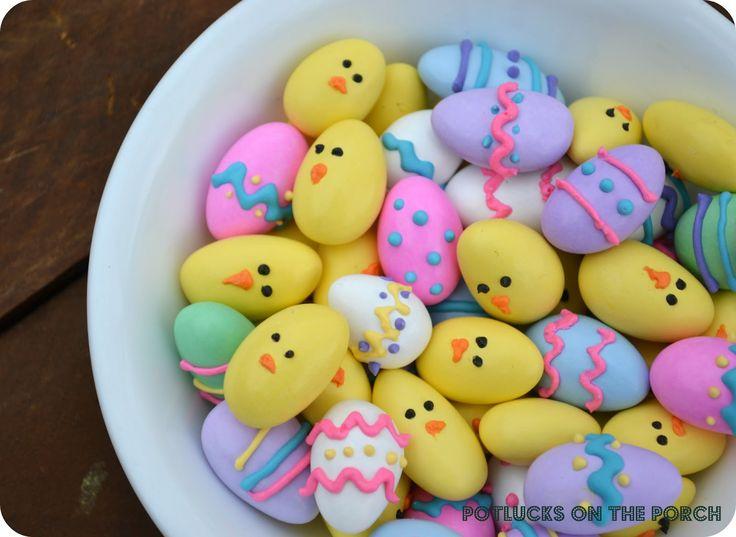 Jordan Almond Easter Eggs & Chicks {Potlucks on the Porch}