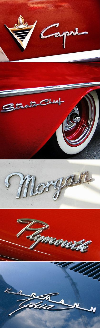 Shiny Classic Car Logos