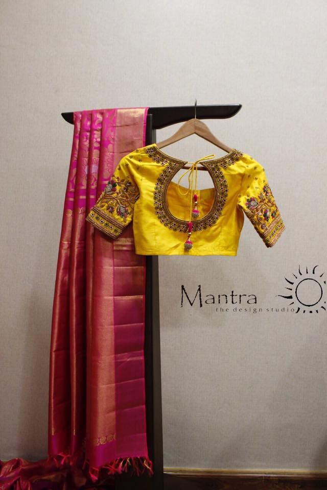 A bright cheerful yellow and a splendid design with a pretty scoop makes it an amazing blouse. www.shopzters.com