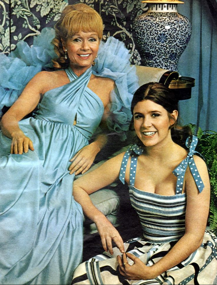 Debbie Reynolds & Carrie Fisher, from the Ladies' Home Journal, June, 1973. RIP to them both.