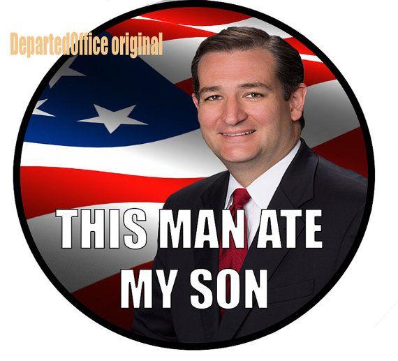 Ted Cruz bumper sticker by DepartedOffice on Etsy