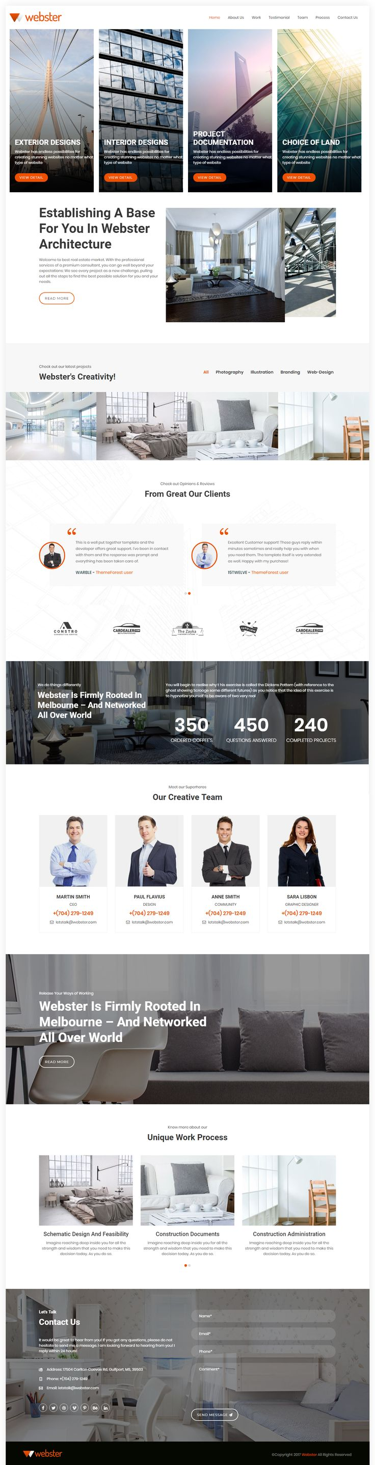 The Webster HTML5 template has a well structured
