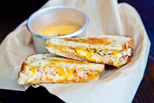 Lobster grilled cheese sandwich | Seafood | Pinterest