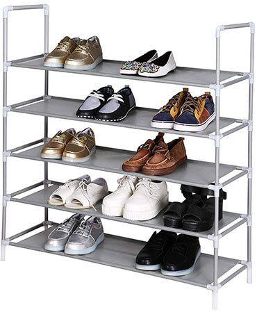 homdox metal shoe storage cabinet 5 tiers