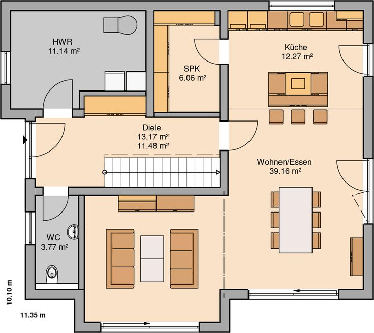 Kern-Haus Familienhaus Vero Grundriss Erdgeschoss