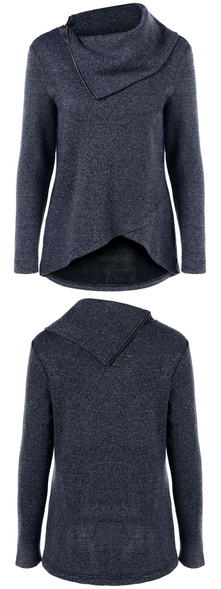 Asymmetric Tulip Hem Knitwear