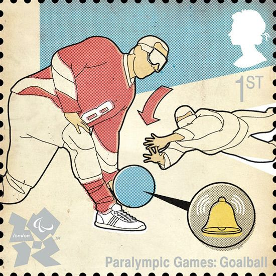 Goalball    royal mail london olympics 2012 stamps