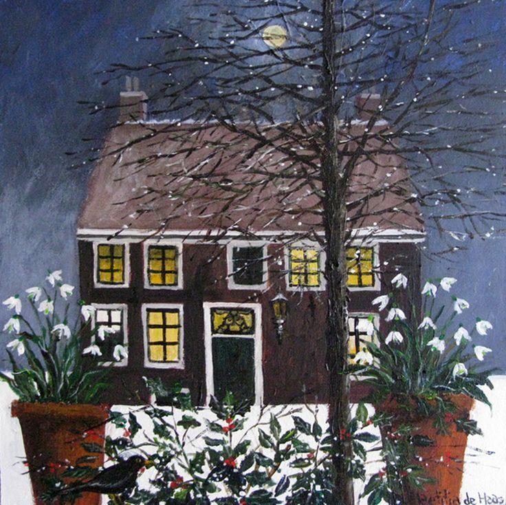 winter - schilderij
