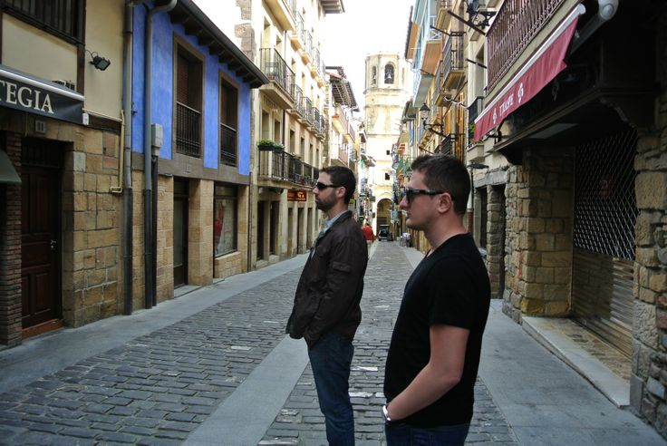 Brian and Hartin taking in Getaria, (Pais Vasco), Spain (and shaking off jet lag).