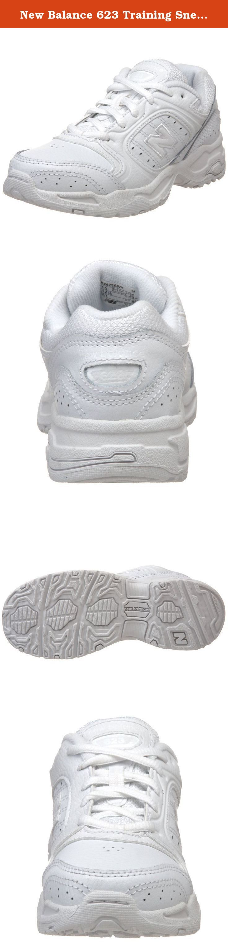 New Balance 623 Training Sneaker(Little Kid/Big Kid),White-AW,7 M US Big Kid. The New Balance 623 for kids, from pre-school to grade-school, is a versatile crosstrainer with a leather upper for comfort and a long-wearing rubber cup outsole for exceptional durability. Color: White.