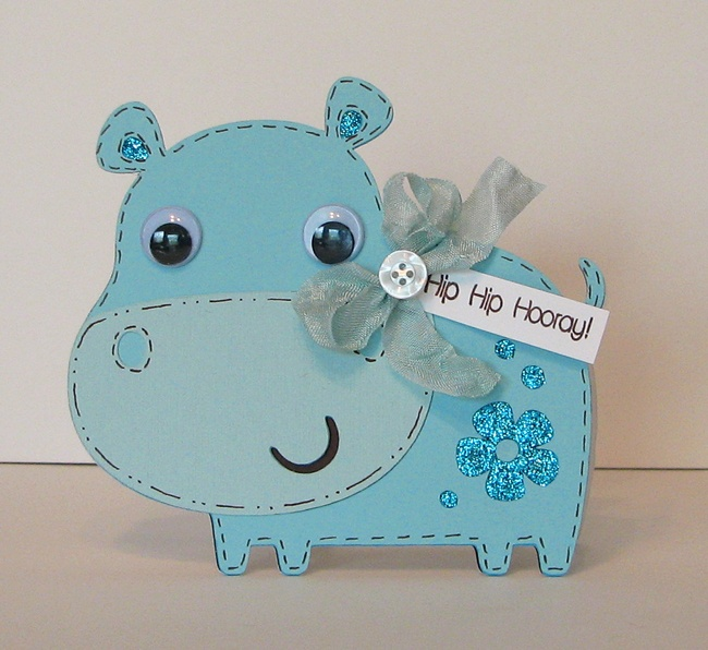 Cricut Card Making Ideas Part - 29: Create A Critter. Scrapping Mommy: Hip Hip Hooray!! A New Card On. Create A  CritterBirthday IdeasFirst Birthday CardsCricut ...