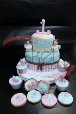 Bebek / Çocuk Pastaları > 1 Yaş Pastaları > Bebek Melekler Pasta