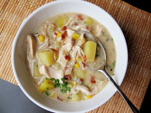Chicken Chowder with Potato, Bacon, and Corn | Recipe