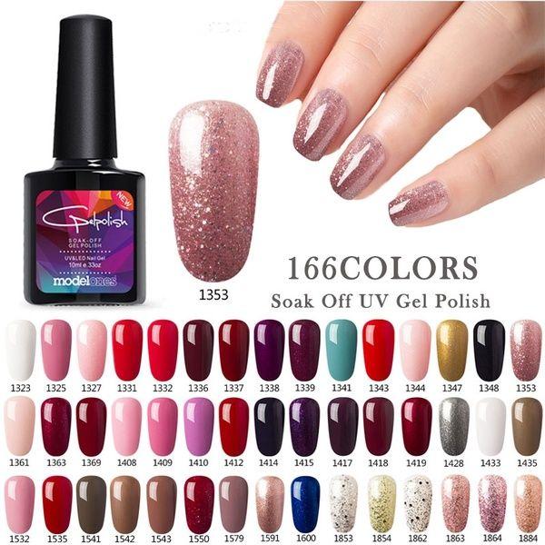 Modelones 10ml 166 Pure Colors Gel Nail Polish Uv Led Gel
