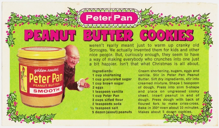 Papergreat: Christmas begins: Peter Pan recipe for peanut butter cookies