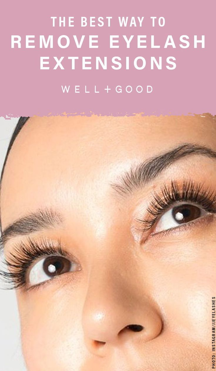How to remove eyelash extensions without sabotaging your