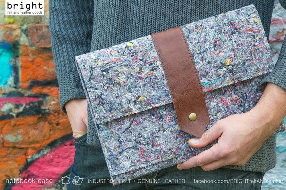 made to measure INDUSTRIAL FELT notebook by BRIGHTfeltANDleather