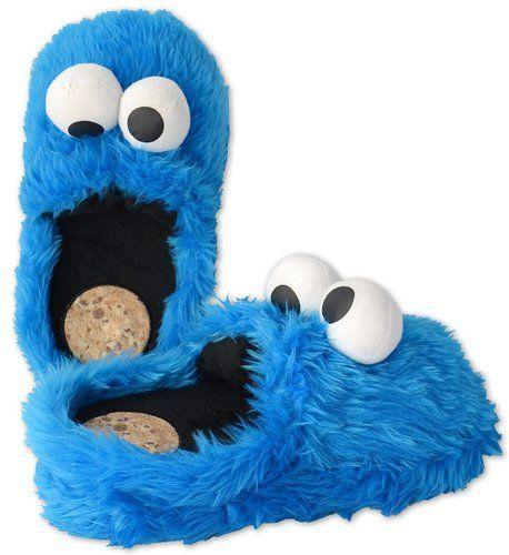 Sesamstrasse Hausschuhe Größe M 38-40 Krümelmonster 3D Slipper Cookie Monster Schuhe Shoes